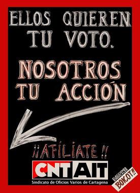 Sie wollen deine Stimme, wir wollen deine Aktion - mach mit! CNT-IAA